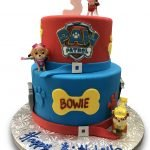 Tiered paw patrol birthday cake kids