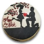 Fondant covered cake with fondant silhouette