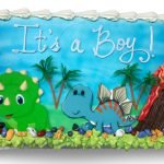 Edible scan dinosaur baby showercake