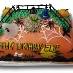 Halloween themed birthday princess cake