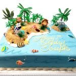 Island animals birthday cake
