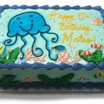 Jellyfish drawing birthday cake