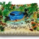 safari animals birthday cake