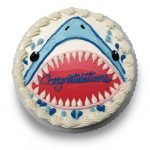 Buttercream shark drawing cake
