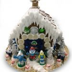 Small smurf gingerbread house