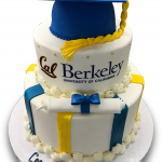 Berkeley graduation cake with cake and fondant cap