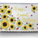 Sunflowers and Ladybugs sheetcake